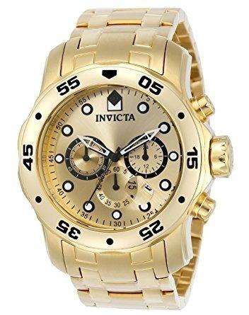 Reloj Invicta Pro Diver Oferta!!!..... Gold En Caja Original