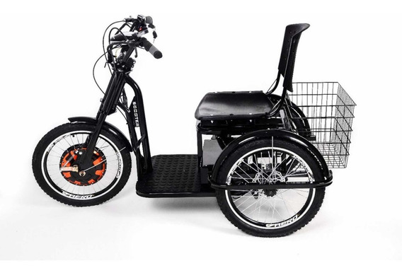 Triciclo Elétrico Scooter Preto Venice Bikes Motor 1000w