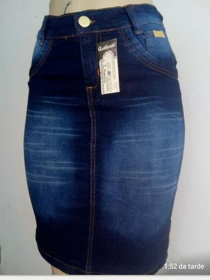 Kit 10 Saia Jeans Moda Evangélica Promoção