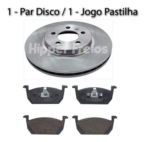 Disco E Pastilha Freio Dianteiro Virtus Highline Tsi 1.0