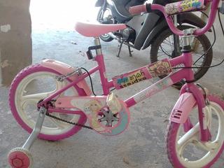 Bicicleta Niña Barbie Rosa Rod 16