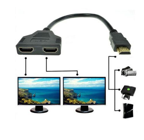 Imagen 1 de 4 de 1080p Puerto Hdmi Macho A 2 Hembra 1 Entrada Salida Cable Di
