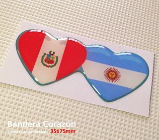 Calcos, Stickers Bandera Perú & Argentina - Domes