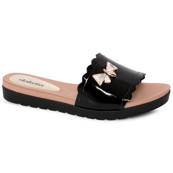 Chinelo Slide Dakota Z4151 Preto