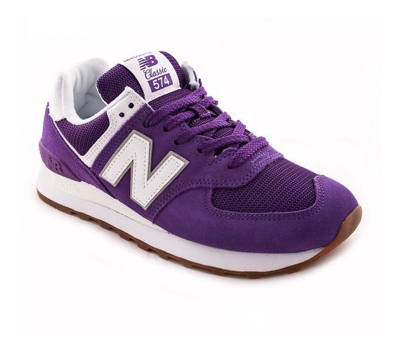 Zapatilla New Balance Wl574esw Violeta Mujer