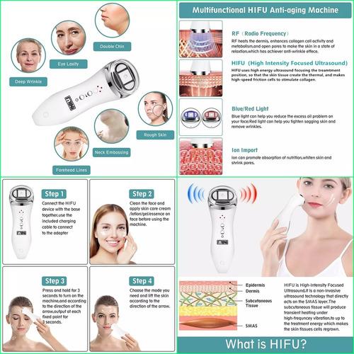 Imagen 1 de 8 de Hifi Ultrasónido Radiofrecuencia Bipolar Led  Lifting Face
