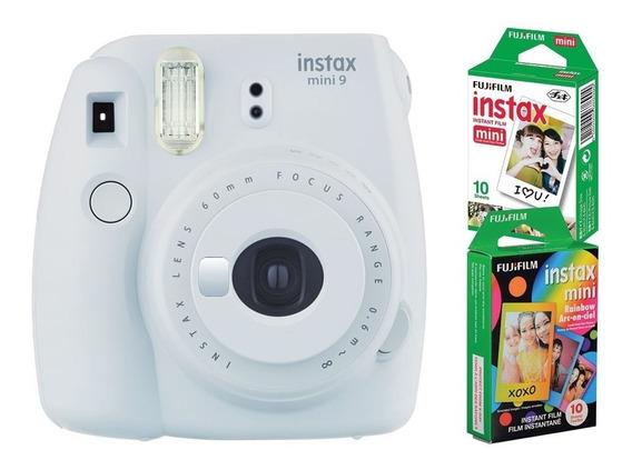 Câmera Instantânea Fujifilm Instax Mini9 Branco Gelo +2 Pack