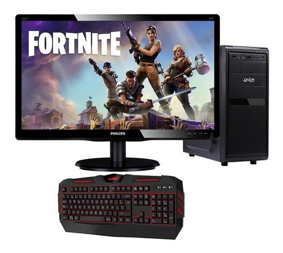 Pc Gamer Amd A8 4gb 1tb O Ssd + Monitor 19 + Teclado Gamer