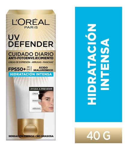 Imagen 1 de 10 de Crema Hidratación Intensa Fps50 L'oréal Paris Uv Defender