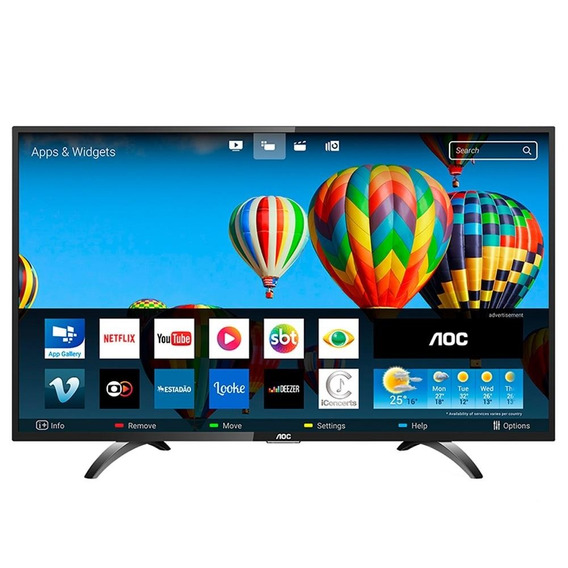 Smart Tv Led 43 Aoc Le43s5970s Full Hd Com Wi-fi, 60hz