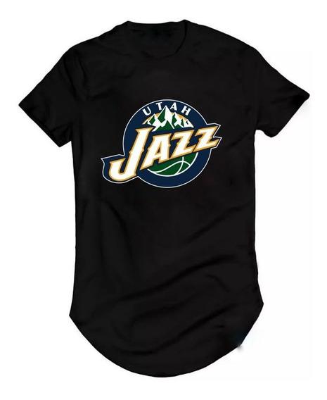 Camisa Longline Basquete Utah Jazz Nba Mitchell Rudy Gobert