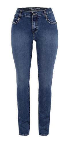 Imagen 1 de 6 de Jeans Vaquero Wrangler Mujer Slim Fit U11