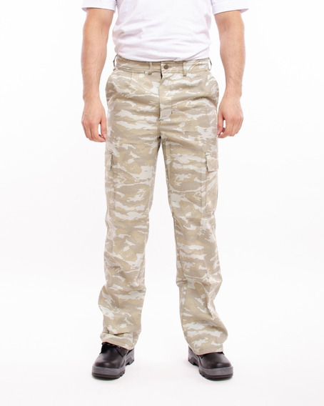 Pantalon Cargo Camuflado Gabardina I201