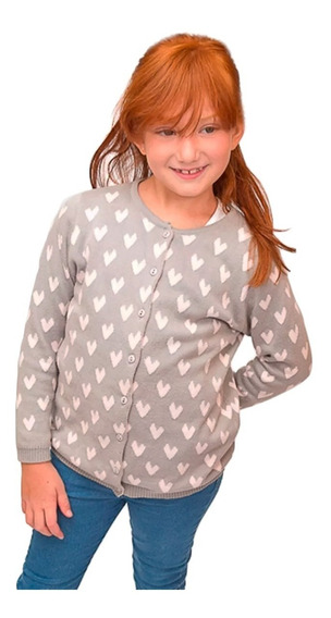 Witty Girls Cardigan Love Around Gris Saquito Abrigo Nena