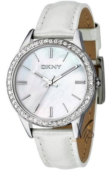 Relógio Feminino Original Donna Karan Dkny Prata Branco Cour