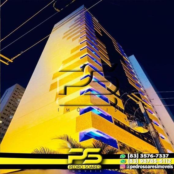Flat Com 1 Dormitório Para Alugar, 30 M² Por R$ 1.550/mês - Manaíra - João Pessoa/pb - Fl0078