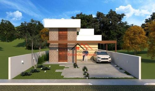 Imagem 1 de 7 de Casa Com 3 Dormitórios À Venda, 101 M² Por R$ 550.000 - Massaguaçu - Caraguatatuba/sp - Ca0581