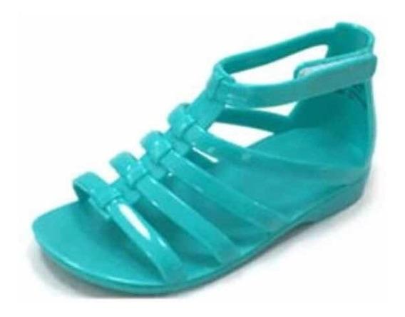 Sandalia Huarache Para Niña Jelly Plástico No. 17