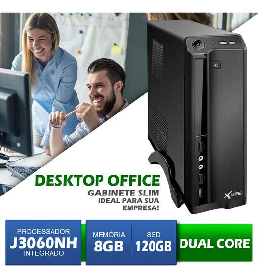 Desktop Integrado Dual Core - J3060 - Ddr3 8gb - Ssd 120gb