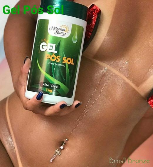 Gel Pós Sol Aloe Vera Com D`pantenol Melanina Bronze 1kg
