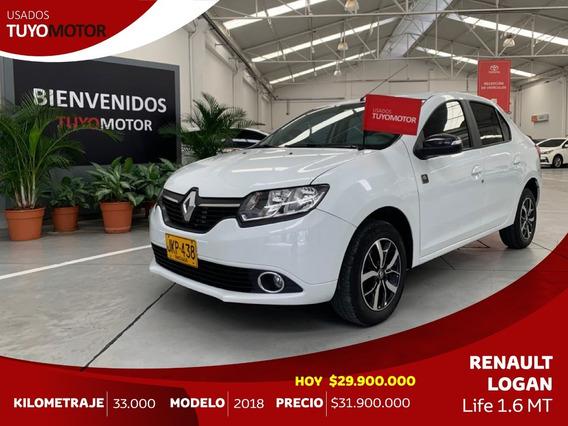Renault Logan Life M/c 1.6 Mod 2018 - Excelente Estado!!!