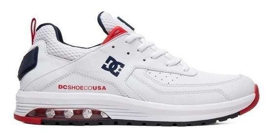 Tênis Dc Shoes Vandium White Couro Original