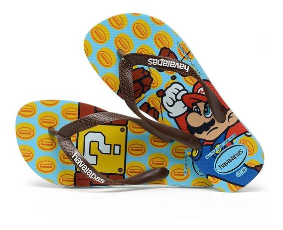 Sandálias Havaianas Chinelo Masculino Mario Bros