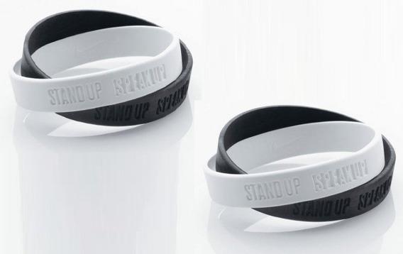 Kit 10 Pulseiras Nike Anti Racismo Stand Up Speak Up 21 Cm