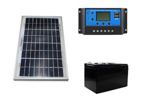 Panel Solar 20w Kit Sistema Aislado, Cargador Usb Doble
