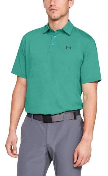 Playera Tipo Polo De Hombre Para Golf Under Armour/ua Playof