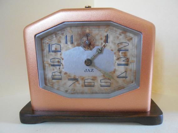 Precioso Reloj Despertador Art Deco Francés Jaz De 1931