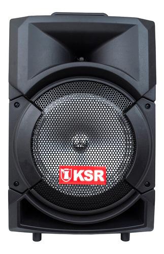 Imagen 1 de 6 de Bocina Kaiser MSA-5808 portátil con bluetooth negra