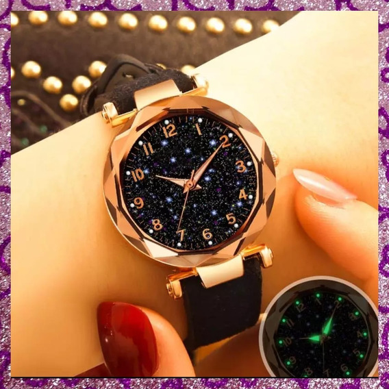 Relógio Feminino Rose Com Preto
