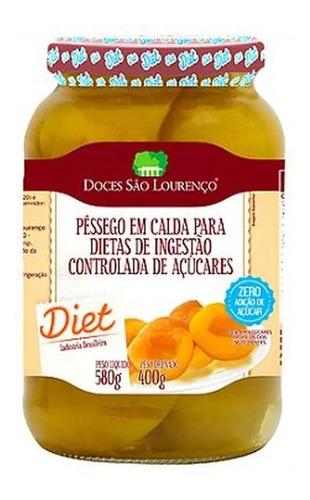 Imagem 1 de 1 de Pessego Em Calda Diet Sâo Lourenço 580g