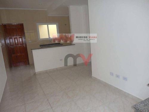 Casa À Venda, 59 M² Por R$ 220.000,00 - Vila São Jorge - Praia Grande/sp - Ca0440