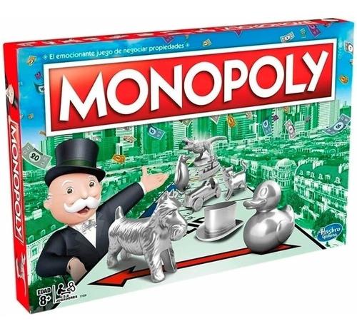 Juego De Mesa Monopoly Clasico Hasbro Rex