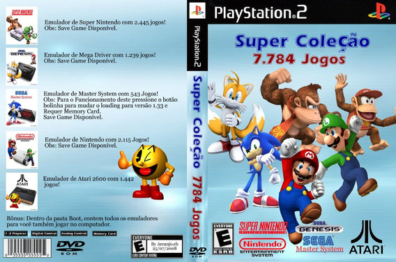 16123 Jogos De Super Nintedo Mega Nes Atari Para Play2 Pc Sw