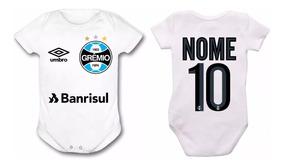 Body Bebê Gremio Time De Futebol Infantil Personalizado Top