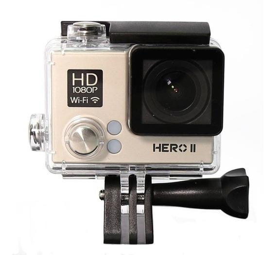 Camera Goalpro Hero 2 Wifi Full Hd Resistente À Água Dourado