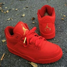 Nuevos! Tenis Air Jordan Retro 3 Red