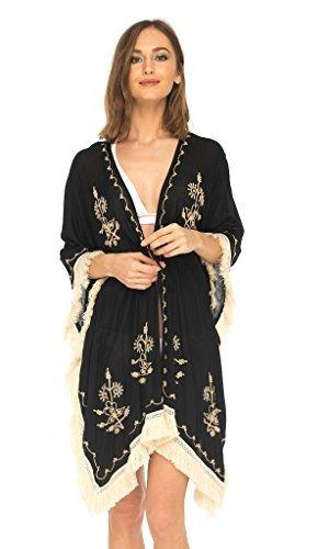 Shushi Mujer Boho Kimono Playa Bañador Hasta Chaqueta De Pu
