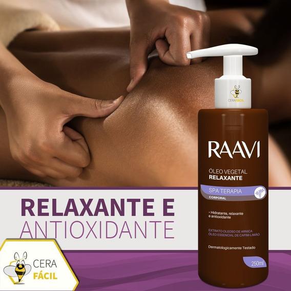 Óleo Vegetal Relaxante 250ml Raavi - 6un