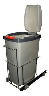 Tacho Porta Residuos Extraible 25 Litros Bajo Mesada