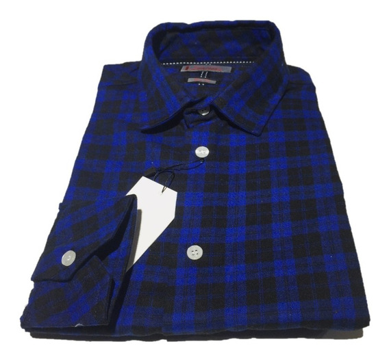 Oferta Camisa De Franela Decaballero Corte Slim 100% Algodon