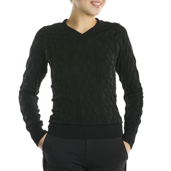 Blusa Estilo Suéter Para Mulheres Sem Costura Em Poliamida