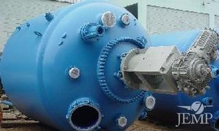 Reator Vitrificado M/ Pfaudler, Cap. 12m³, Selo Mecânico