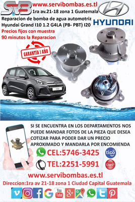 Bomba De Agua Automotriz Hyundai Grand I10 1.2