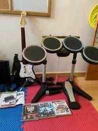 Guitarra Batería Micrófono Y 3 Juegos Ps3 Play Station 3