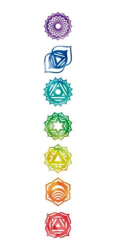 7 Chakras Reiki De 10 Cm X 10 Cm Mdf 3mm Mandalas
