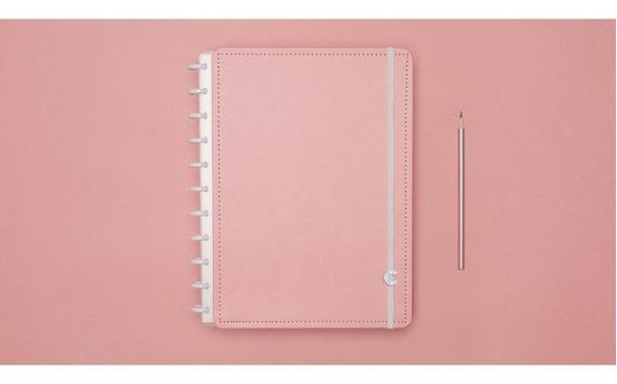 Caderno Inteligente Rose Pastel 80fl Grande 1 Un
